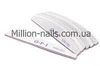 Пилка для ногтей OPI  полукруг 100/150, серая
