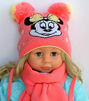 "Детская шапка ""Микки Маус"" (осень/девочка) 3-9 мес"