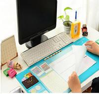 Ультра - большой коврик для мыши. С карманами, линейкой и органайзером для заметок на полотне!