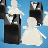 Свадебные бонбоньерки для гостей жених с невестой