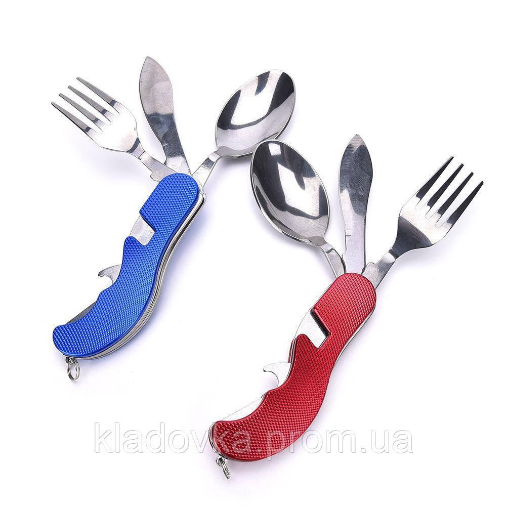 Набор складной - нож, вилка, ложка, открыватель бутылок - КЛАДОВКА в Киеве