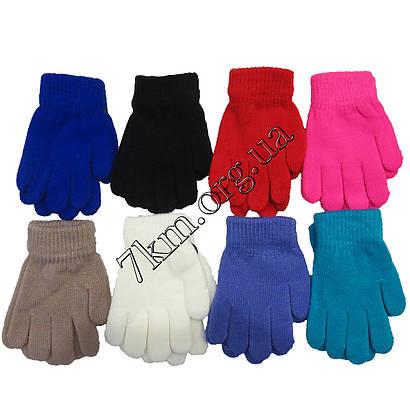Перчатки детские одинарные для девочек 3-5 лет Оптом 5081-1