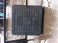 Люк канализационный полимерпесчаный квадрат с замком