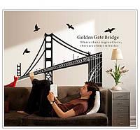 """Наклейка Виниловая 3D """"мост Золотые Ворота Сан-Франциско"""", 100*135см"""