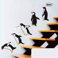 """""""Пингвины"""", 150*80см. Виниловая 3D наклейка"""