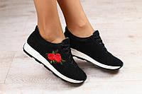Кроссовки замшевые с аппликацией в стиле Dolce Gabbana