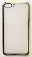 Чехол на Айфон 7 Плюс ТПУ Прозрачный Steel Grey