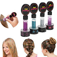Печать - Штамп для украшения волос Hot Stamps, 4шт/уп