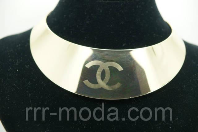 фото металлическое колье Chanel