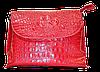 Женская сумка из натуральной кожи красного цвета рептилия  NNR-052216
