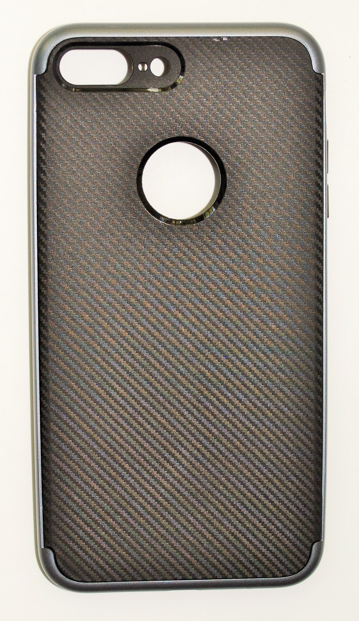 Чехол на Айфон 7 Плюс SGP Neo Hybrid Силикон и пластик Черный Серый