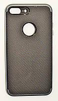 Чехол на Айфон 7 Плюс SGP Neo Hybrid Силикон и пластик Черный Серый, фото 1