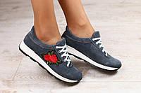 Серые кроссовки с аппликацией в стиле Dolce Gabbana