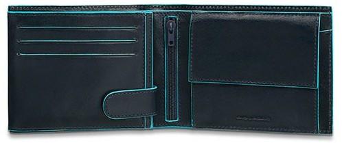 Стильне шкіряне портмоне PIQUADRO з відділ. для монет та 11 кредитних карт PU3436B2_BLU2 синій