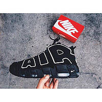 Мужские Кроссовки Nike Air More Uptempo 'Black White'  43