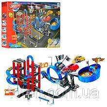 """Трек дитячий швидкісний """"2в1"""", 95-65-45 см, машинка 4 штуки, від 5 см 8899-82"""