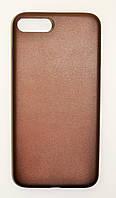 Чехол на Айфон 7 Плюс Thin Пластик под кожу Коричневый, фото 1
