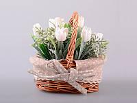 Цветы искусственные в кашпо 17 х 6 см 70-303. Декор в стиле прованс