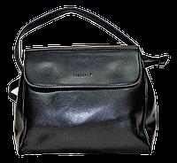 Модная женская сумка GАLАNTY из натуральной кожи черного цвета HQX-086522