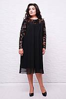 Вечернее платье КАМАЛИЯ черное (54-60)