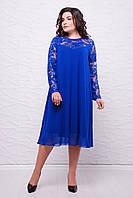 Вечернее платье КАМАЛИЯ синее (54-60)
