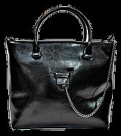 Женская сумка из натуральной кожи черного цвета BWX-075220, фото 1