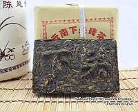 """Китайский зелёный чай - Шен пуэр """"Тибетский кирпич"""", 2017 год"""