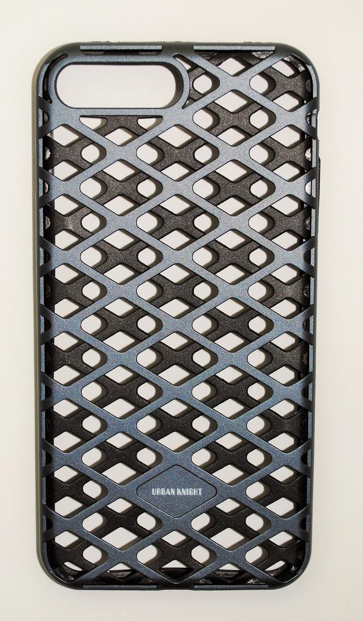 Чехол на Айфон 7 Плюс Urban Knight Силикон с пластиком Черный Серый