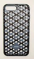 Чехол на Айфон 7 Плюс Urban Knight Силикон с пластиком Черный Серый, фото 1