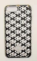 Чехол на Айфон 7 Плюс Urban Knight Силикон с пластиком Черный Серебро, фото 1