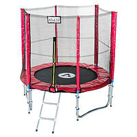Батут диаметром 183см (6ft) Atleto для детей спортивный с лестницей и внешней сеткой