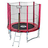 Батут діаметром 183см (6ft) з подвійними ніжками спортивний для дітей із зовнішнью сіткою і драбинкою