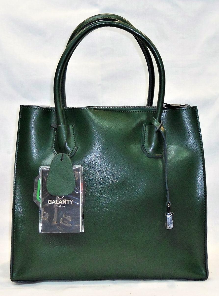 Женская сумочка GALANTY из натуральной кожи зеленого цвета LZZ-870002, фото 1