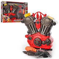 Набор инструментов 661-183 (18шт) двигатель (звук,свет)25-24-7см, ключи,отвертка,в кор-ке, 42-31,5-8см