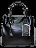 Женская сумочка GALANTY из натуральной кожи черного цвета LZZ-870031