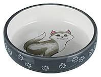 Миска керамическая Trixie Ceramic Bowl для кошек короткомордых пород, 0,3 л/Ø15 см