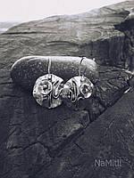 """Сережки """"Маки"""" срібло 925 проби, ручна робота"""