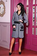 Стильное легкое пальто-кардиган с красивым декором, размеры 44-50 (разные цвета)