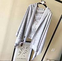 Палантин шарф Louis Vuitton (Луи Витон) серый