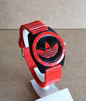 Спортивные часы Adidas, Адидас красные с черным