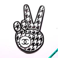 Термонашивка, наклейка на одежду Peace [25 шт. на лист]