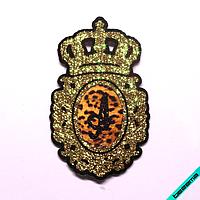 Термонашивка, наклейка на одежду Корона с буквой [размеры и цвета в ассортименте]
