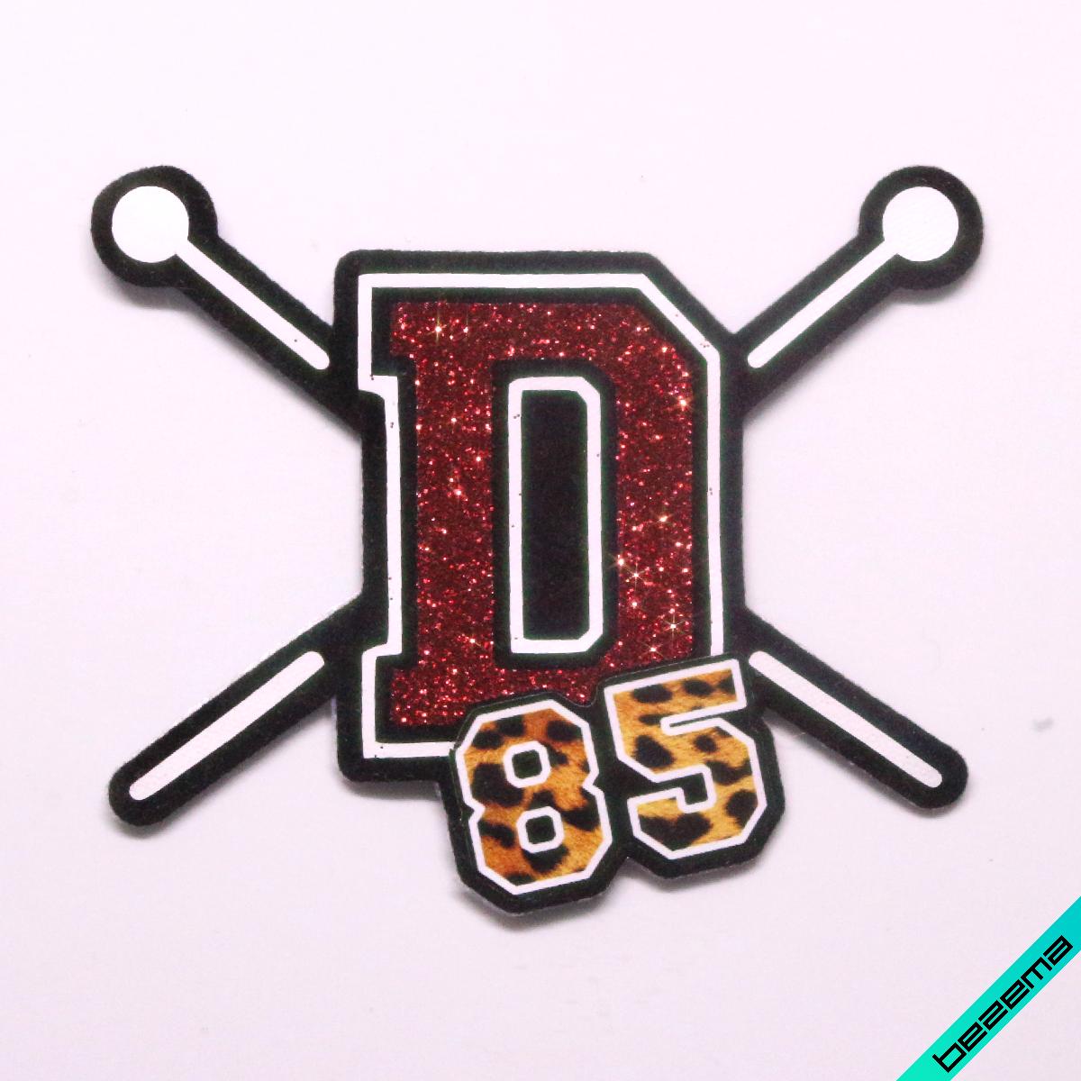 Нашивки на бейсболки термо D&G [Свой размер и материалы в ассортименте]