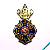 Шевроны на текстильные изделия термо Корона [Свой размер и материалы в ассортименте]