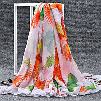Стильный легкий женский шарф с ярким принтом