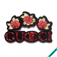 Термонашивка, наклейка на одежду Gucci [48 шт. на листе]