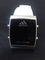 Спортивные часы Adidas LED WATCH, Адидас Лед белые