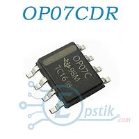 OP07CDR, Прецизионный одноканальный операционный усилитель, SOP8