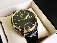Мужские наручные часы Mercedes ( Мерседес ) золото с чёрным циферблатом