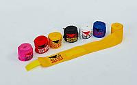 Бинты боксерские (2шт) хлопок с эластаном BAD BOY (l-3м, цвета в ассортименте)